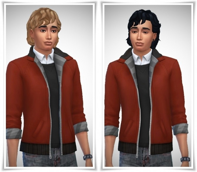 Sims 4 CurlyBangs male at Birksches Sims Blog