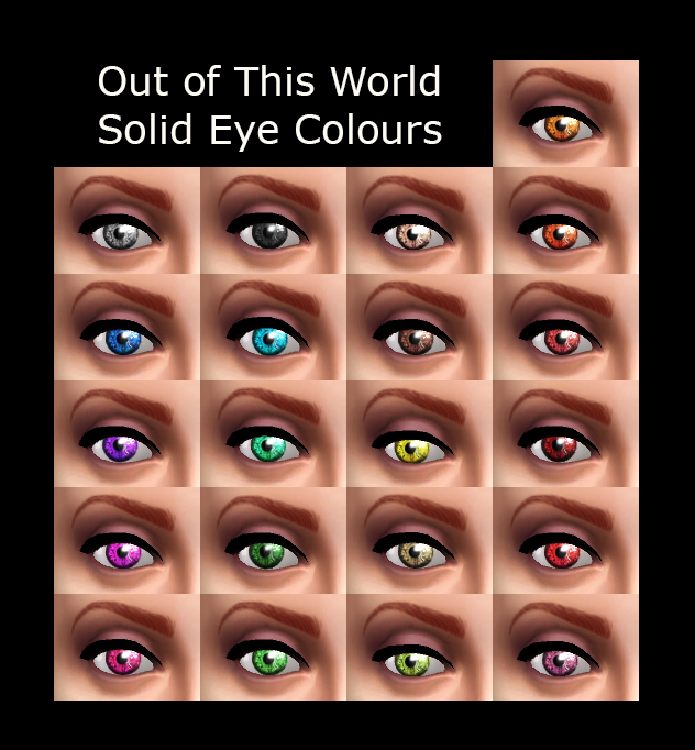 Out of This World Eyes 3 Sets of Colours by Simmiller at Mod The Sims image 1672 Sims 4 Updates