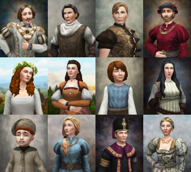 Sims 4 Portraits of the Medieval kind at Historical Sims Life