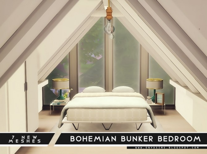 Bohemian Bunker Bedroom 2.0 at Onyx Sims image 1704 670x497 Sims 4 Updates