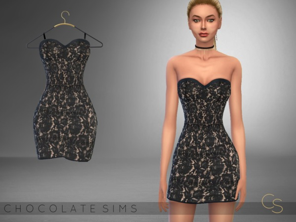 Lace Dress Leila by MissSchokoLove at TSR image 1714 Sims 4 Updates