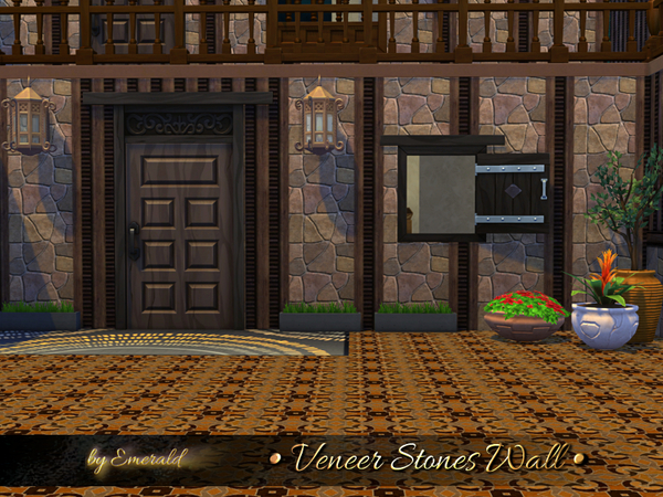 Veneer Stones Wall by emerald at TSR image 1716 Sims 4 Updates