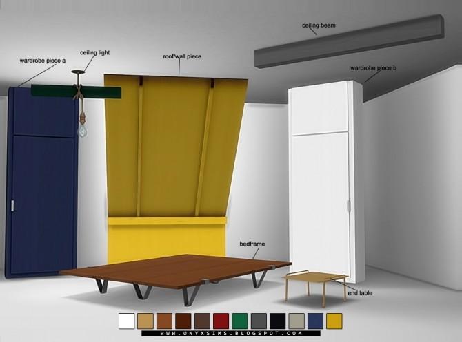 Sims 4 Bohemian Bunker Bedroom 2.0 at Onyx Sims