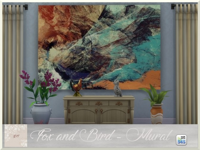 Fox and Bird paintings and rug by augold44 at Mod The Sims image 1722 670x503 Sims 4 Updates