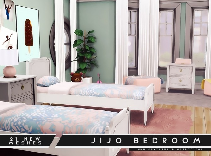 Jijo Bedroom Set at Onyx Sims image 1723 670x497 Sims 4 Updates