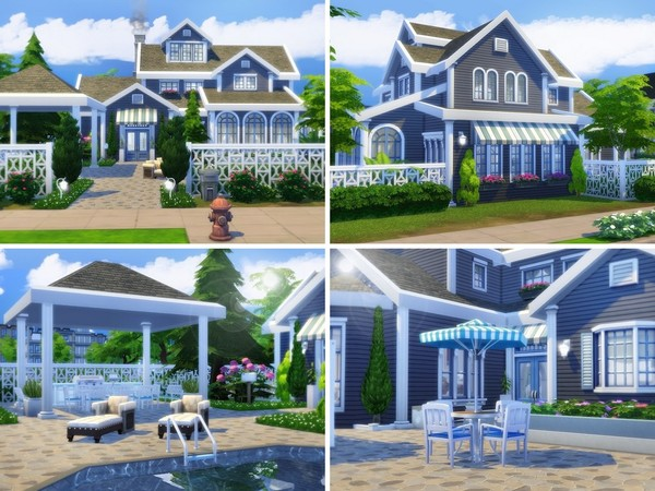Sims 4 Aurora house by MychQQQ at TSR