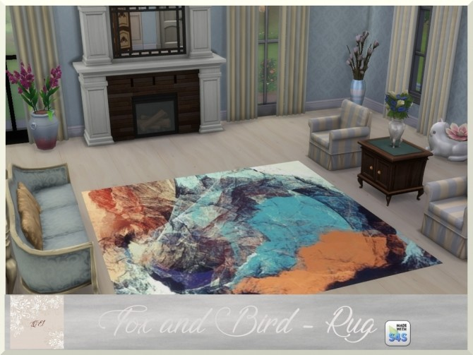 Fox and Bird paintings and rug by augold44 at Mod The Sims image 1733 670x503 Sims 4 Updates