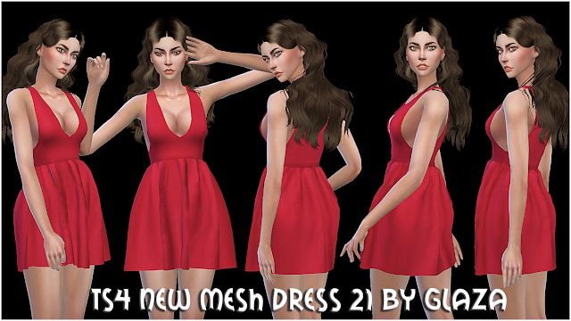 Sims 4 DRESS 21 at All by Glaza