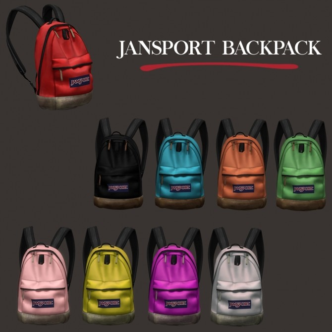 Sport Backpack (P) at Leo Sims image 174 670x670 Sims 4 Updates