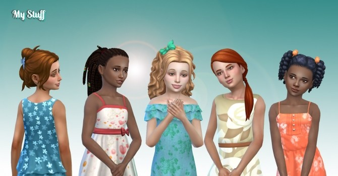 Girls Tied Hairs Pack 7 at My Stuff image 1764 670x349 Sims 4 Updates