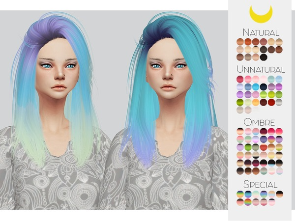 Sims 4 Hair Retexture 44 LeahLilliths Pretty Thoughts by Kalewa a at TSR