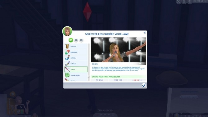Sims 4 Singer Career by xTheLittleCreator at Mod The Sims