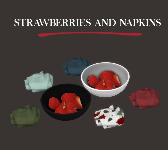 Strawberries and Napkins at Leo Sims image 1824 670x596 Sims 4 Updates