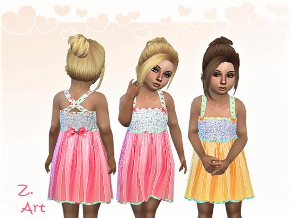 Sims 4 BabeZ 41 delicate chiffon dress by Zuckerschnute20 at TSR
