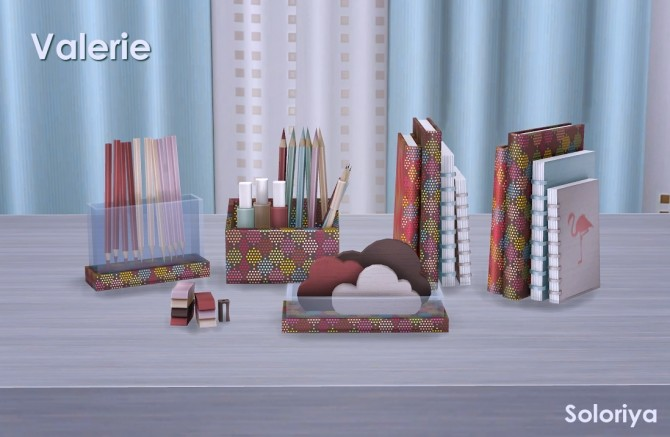 Valerie set part 2 clutter (P) at Soloriya image 183 670x437 Sims 4 Updates