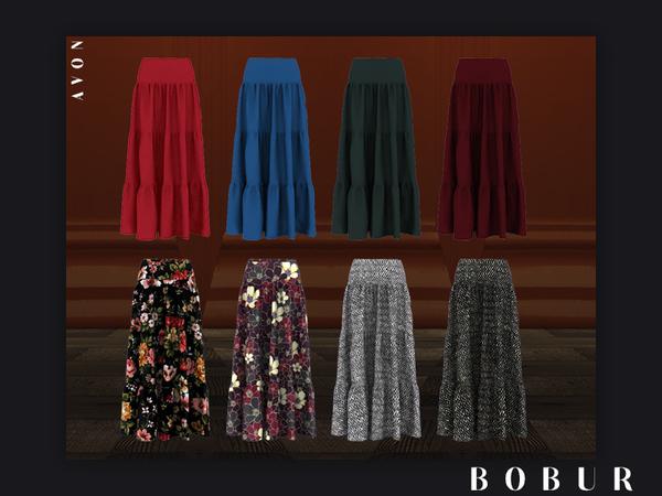 Sims 4 Avon skirt by Bobur3 at TSR