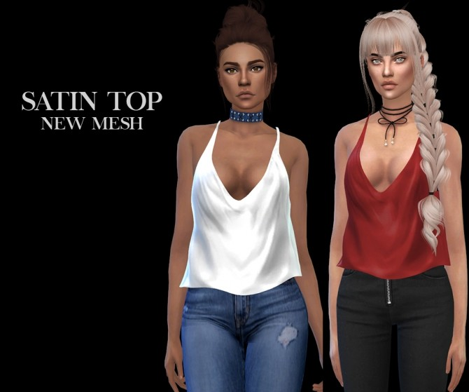 Satin Top at Leo Sims image 1844 670x559 Sims 4 Updates