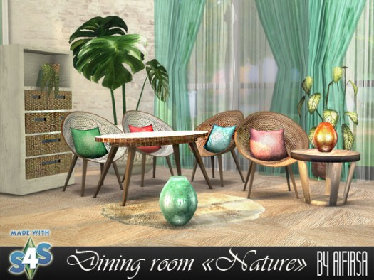 Nature diningroom at Aifirsa image 1863 Sims 4 Updates