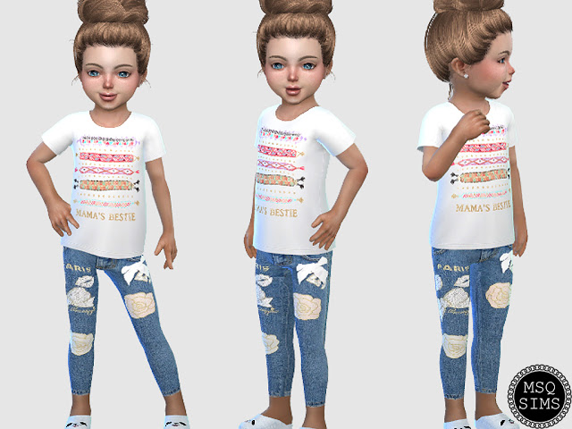 Toddler Jeans 02 at MSQ Sims image 1922 Sims 4 Updates