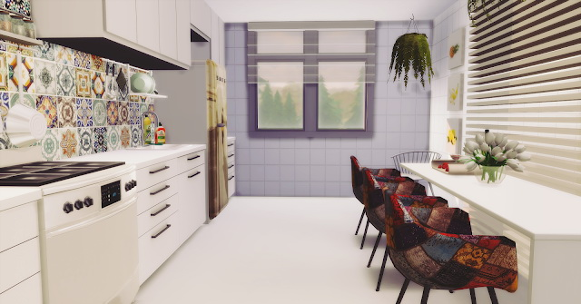 White Minimalist Kitchen at Lily Sims image 1941 Sims 4 Updates