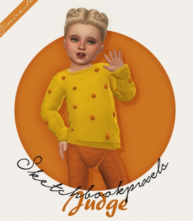 Sims 4 Sketchbookpixels Popcorn Sweater 3T4 at Simiracle