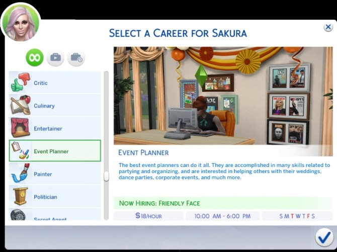 Sims 4 Event Planner Career by Simmiller at Mod The Sims