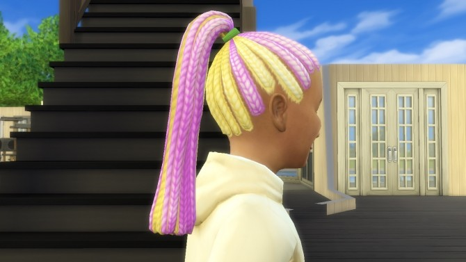 Multicolored Braided Ponytail by EmilitaRabbit at Mod The Sims image 1981 670x377 Sims 4 Updates