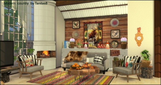 Sims 4 Modern house in country style at Tanitas8 Sims
