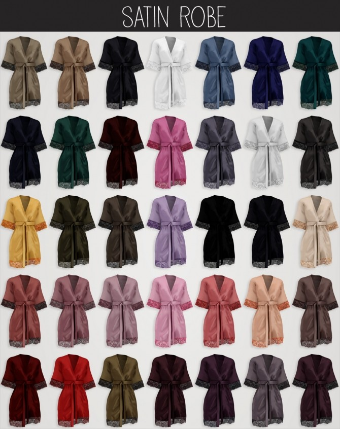 Satin robe at Elliesimple image 199 670x846 Sims 4 Updates