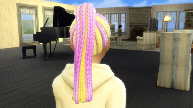 Multicolored Braided Ponytail by EmilitaRabbit at Mod The Sims image 1991 670x377 Sims 4 Updates