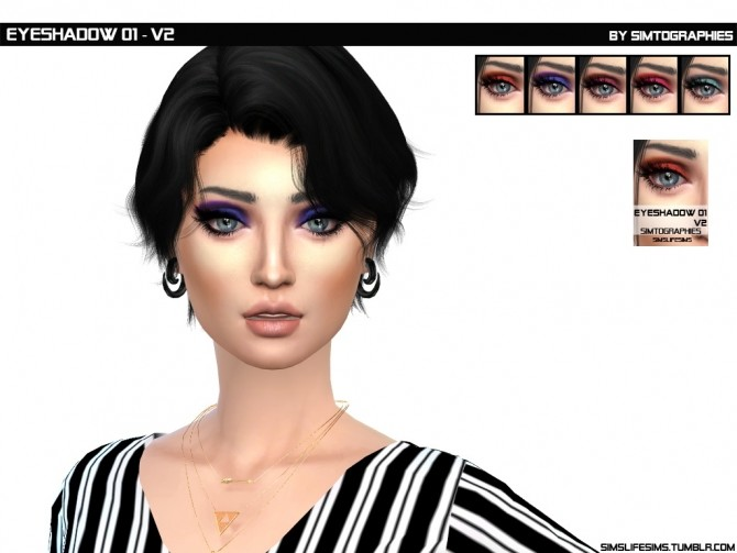 Eyeshadow 01 (V1 & V2) at Sims Life Sims image 1994 670x503 Sims 4 Updates