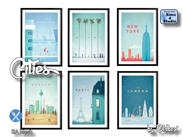 Cities paintings by Oldbox at All 4 Sims image 2002 Sims 4 Updates