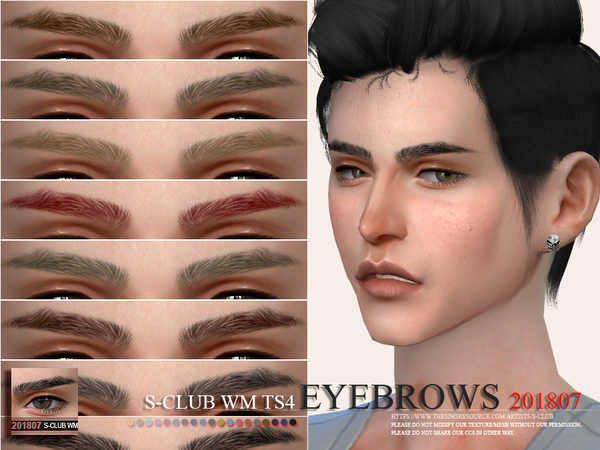 Eyebrows 201807 by S Club WM at TSR image 2010 Sims 4 Updates
