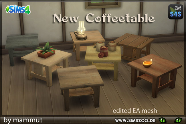 New coffee table by mammut at Blacky's Sims Zoo image 20110 Sims 4 Updates