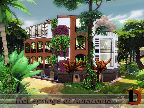 Sims 4 Hot springs of Amazonia by Danuta720 at TSR