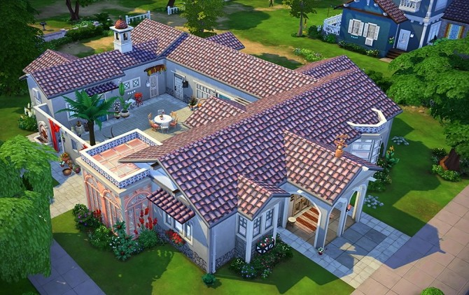Sims 4 La Cour des Roses house by Rope at Simsontherope