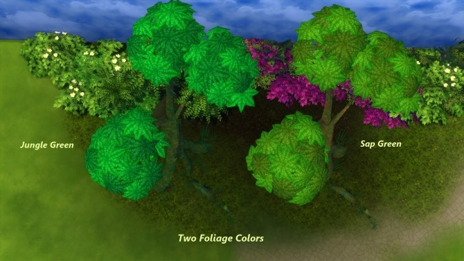 Mossy Jungle Trees by Snowhaze at Mod The Sims image 2071 670x377 Sims 4 Updates