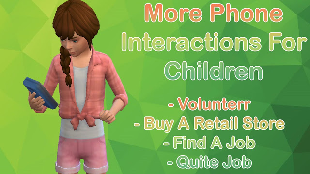 Sims 4 More Phone Interactions For Children at MSQ Sims