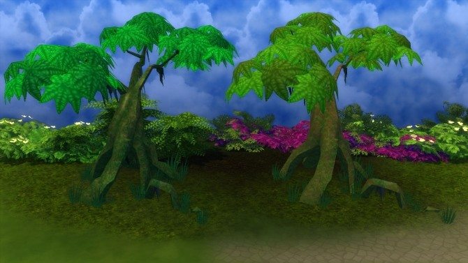 Mossy Jungle Trees by Snowhaze at Mod The Sims image 2081 670x377 Sims 4 Updates