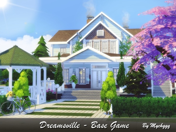 Sims 4 Dreamsville house by MychQQQ at TSR