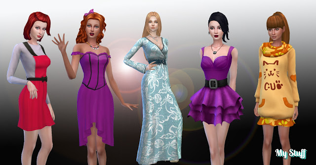 Sims 4 Female Dresses Pack 4 at My Stuff