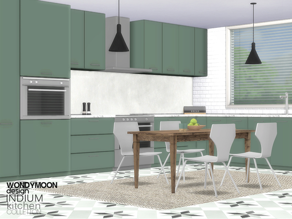 Indium Kitchen by wondymoon at TSR image 2125 Sims 4 Updates