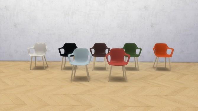 Sims 4 HAL ARMCHAIR WOOD at Meinkatz Creations