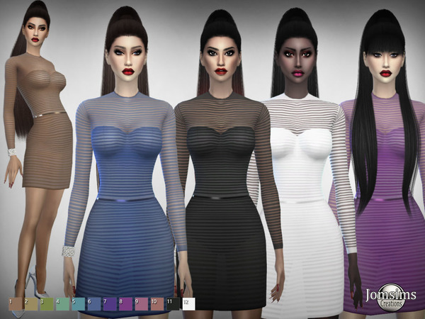 Sims 4 Ansevie dress by jomsims at TSR