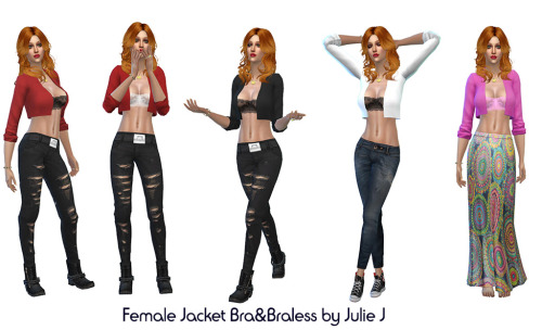 Sims 4 Female Jacket at Julietoon – Julie J