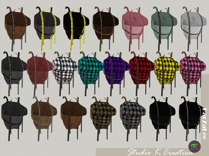 Sims 4 Roll top backpack at Studio K Creation