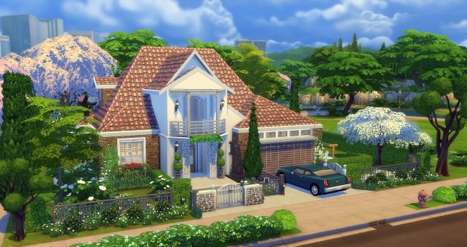 Sims 4 Ancolie house by Angerouge at Studio Sims Creation