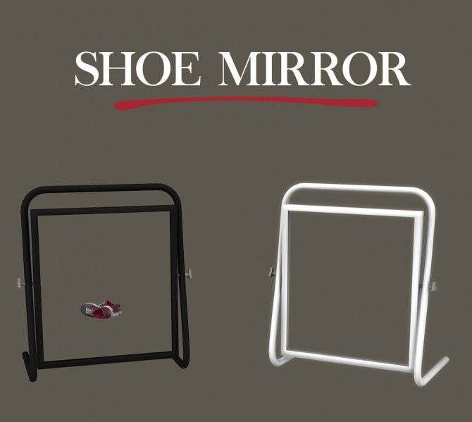 Sims 4 Shoes Mirror at Leo Sims