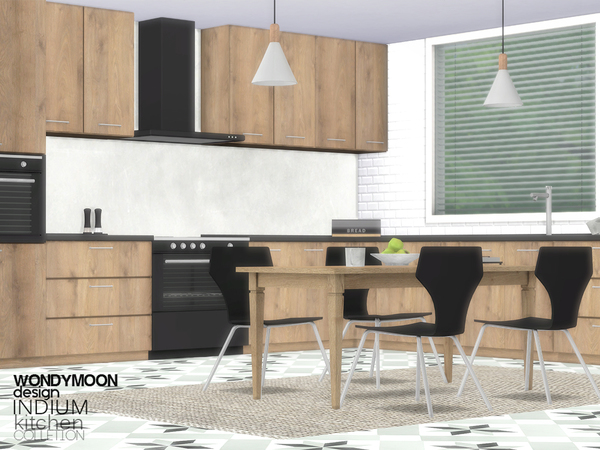 Indium Kitchen by wondymoon at TSR image 2219 Sims 4 Updates