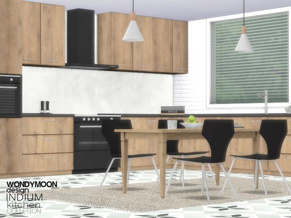 Indium Kitchen by wondymoon at TSR image 2219 Sims 4 Updates